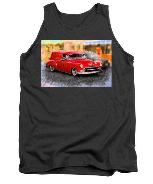 Classic Car Tank Top featuring the photograph Chevy Street Rod by Aaron Berg