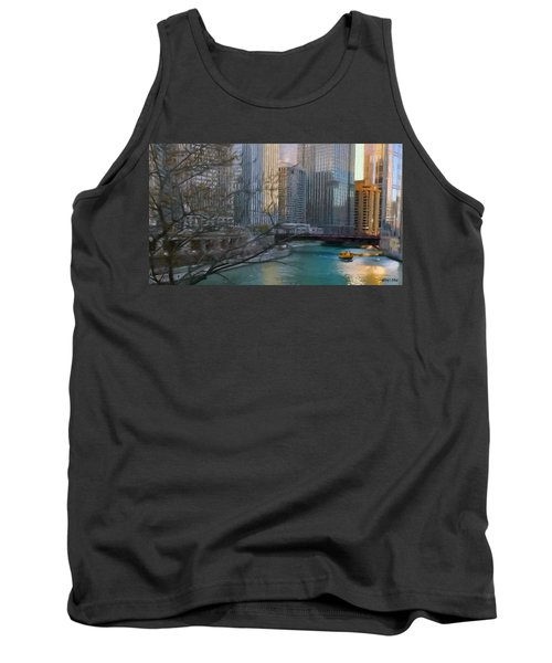 Chicago River Sunset Tank Top