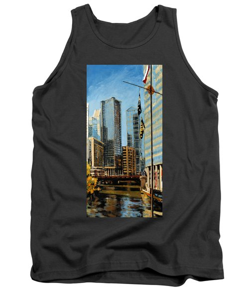 Chicago - The River From The East Tank Top