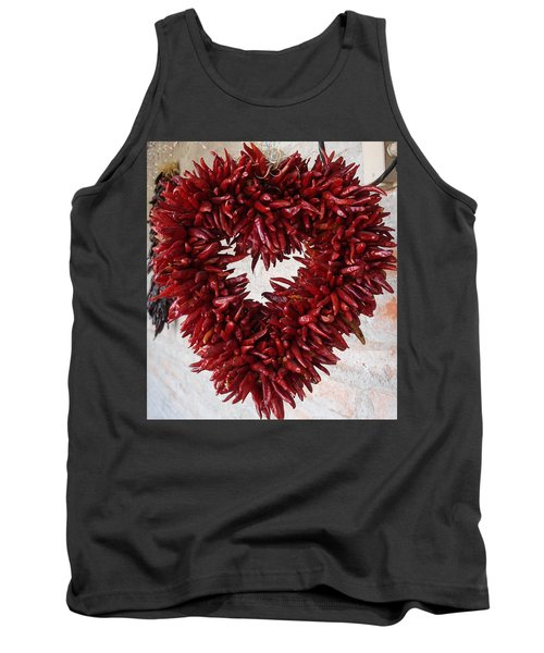 Tank Top featuring the photograph Chili Pepper Heart by Kerri Mortenson