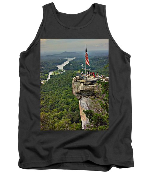 Tank Top featuring the photograph Chimney Rock Overlook by Alex Grichenko