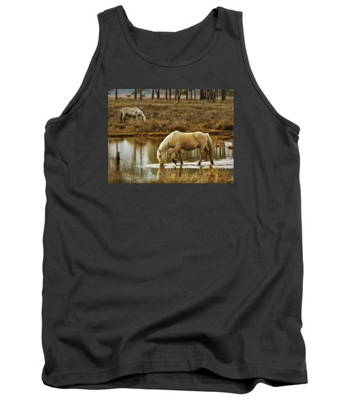 Tank Top featuring the photograph Chincoteague Gold by Joan Davis