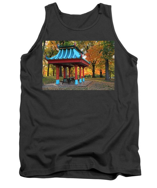 Chinese Shelter In Autumn Tank Top