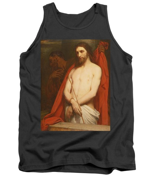 Christ With The Reed Oil On Canvas Tank Top