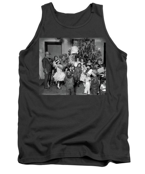 Tank Top featuring the photograph Christmas, 1925 by Granger