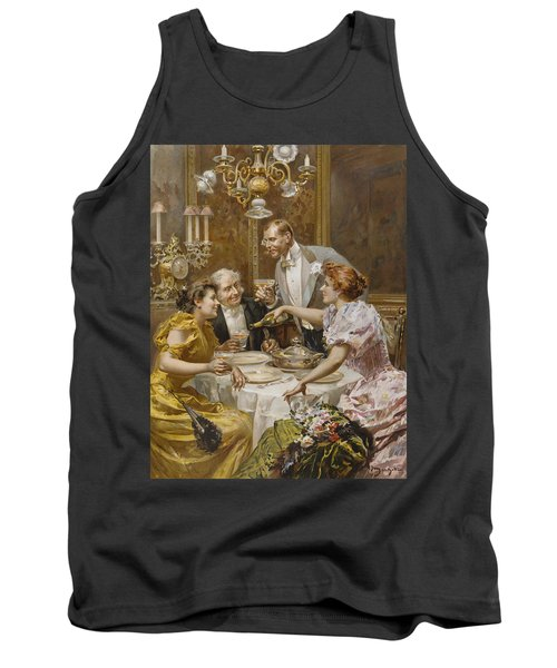 Christmas Eve Dinner In The Private Dining Room Of A Great Restaurant Tank Top