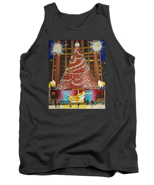 Christmas In The City Tank Top by Donna Blossom