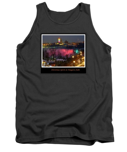 Christmas Spirit At Niagara Falls - Holiday Card Tank Top