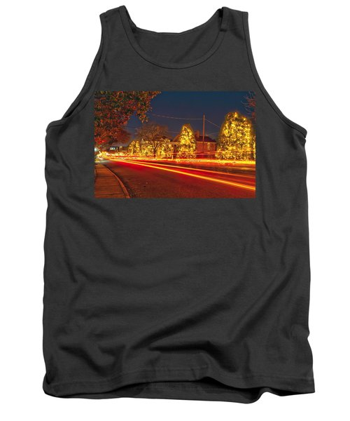 Tank Top featuring the photograph Christmas Town Usa by Alex Grichenko