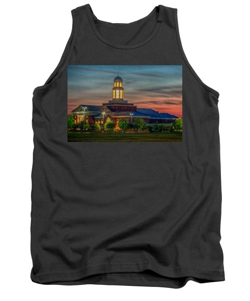 Christopher Newport University Trible Library At Sunset Tank Top