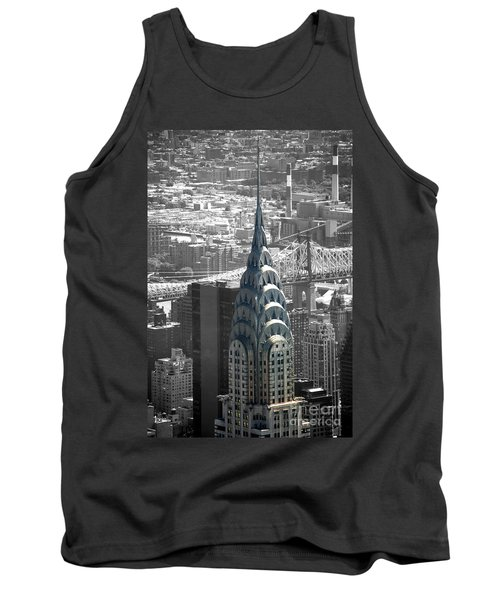 Chrysler Building Tank Top by Angela DeFrias