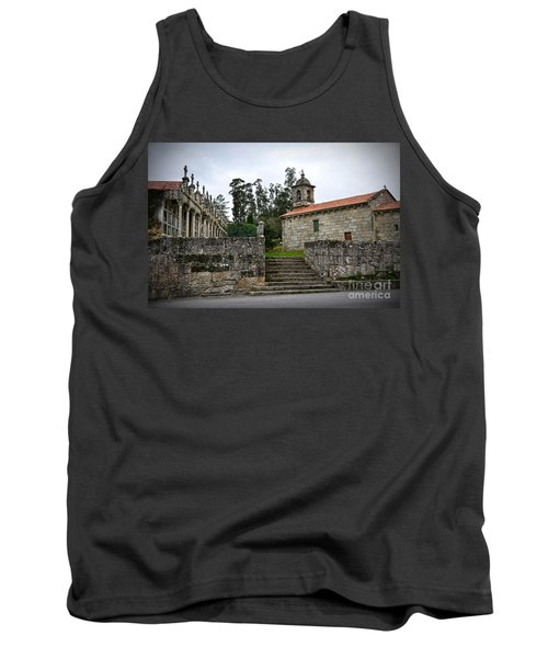 Church And Cemetery In A Small Village In Galicia Tank Top