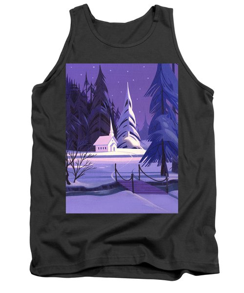 Church In Snow Tank Top by Michael Humphries
