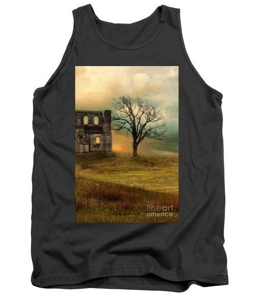 Church Ruin With Stormy Skies Tank Top by Jill Battaglia