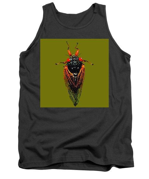 Cicada In Green Tank Top