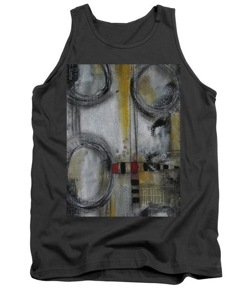 Tank Top featuring the painting Circles Of Life by Nicole Nadeau