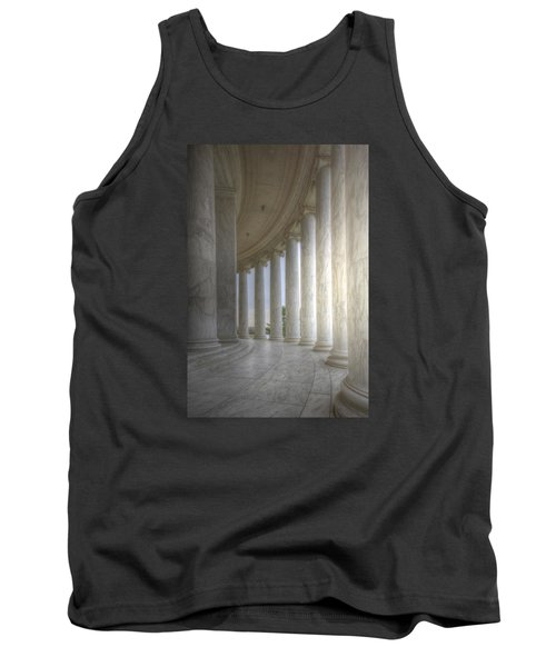 Circular Colonnade Of The Thomas Jefferson Memorial Tank Top by Shelley Neff