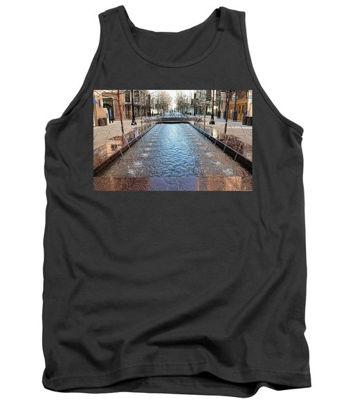 Tank Top featuring the photograph City Creek Fountain - 1 by Ely Arsha
