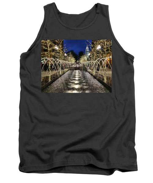 Tank Top featuring the photograph City Creek Fountain - 2 by Ely Arsha