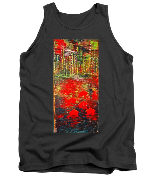 City Lights - Sold Tank Top by George Riney