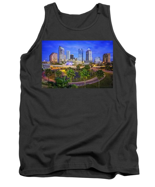 City Of Tampa At Dawn In Hdr Tank Top by Michael White