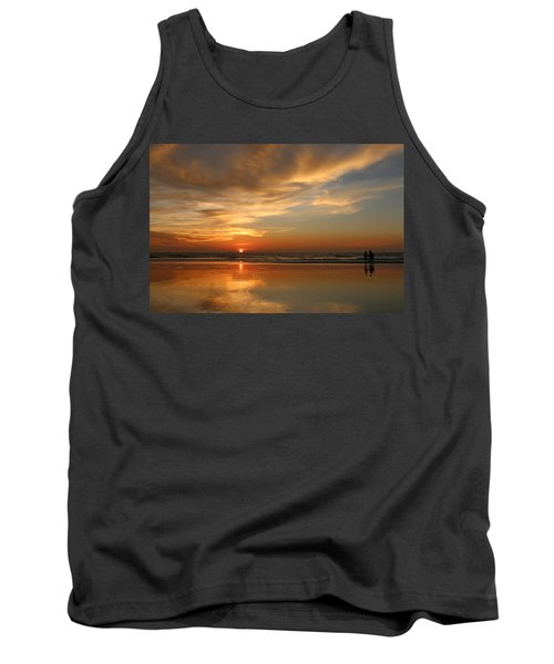 Clam Digging At Sunset - 4 Tank Top