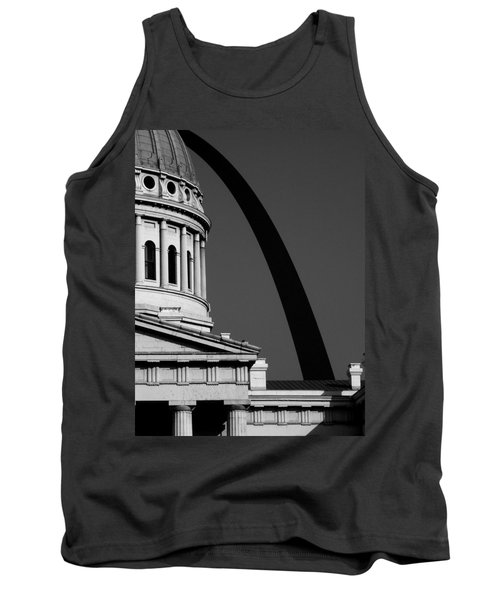 Classical Dome Arch Silhouette Black White Tank Top