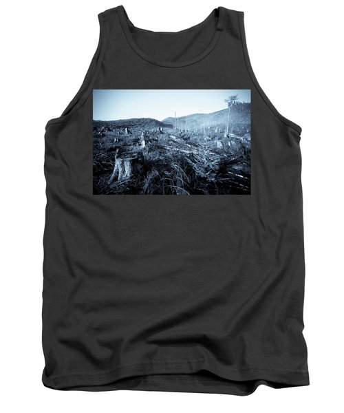 Clearcut Forest On The Oregon Coast Tank Top