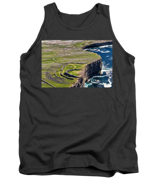 Tank Top featuring the photograph Cliffs Of Inishmoore by Juergen Klust