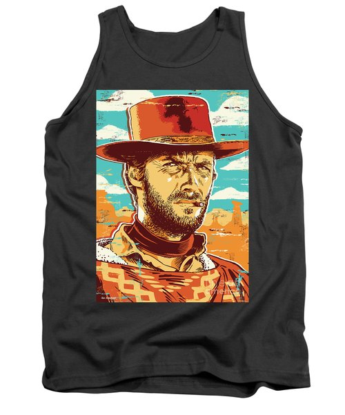 Clint Eastwood Pop Art Tank Top