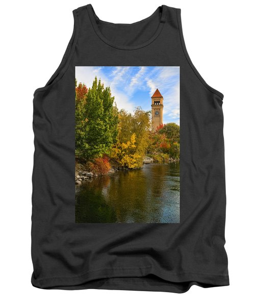 Clocktower In Fall Tank Top