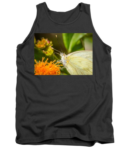 Butterfly Attracted To Mexican Flame Tank Top by Debra Martz