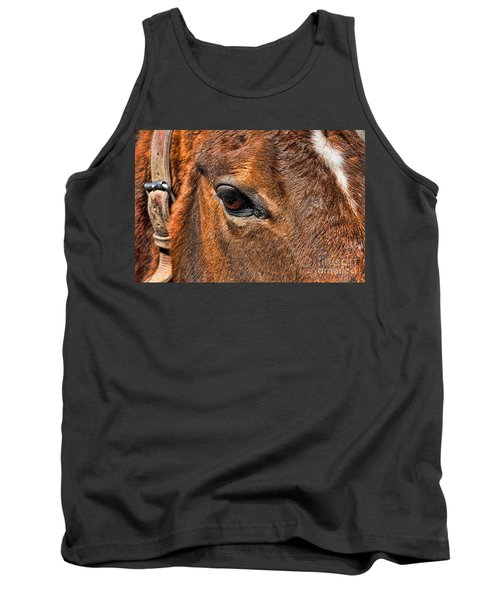 Close Up Of A Horse Eye Tank Top