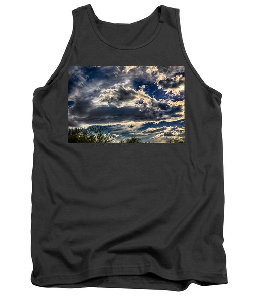 Tank Top featuring the photograph Cloud Drama by Mark Myhaver