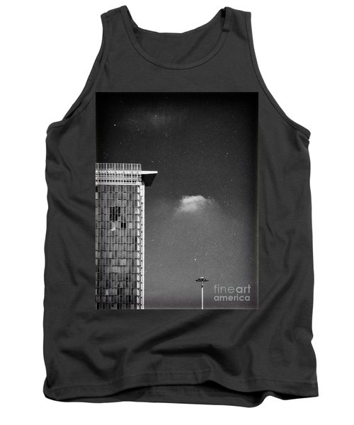 Tank Top featuring the photograph Cloud Lamp Building by Silvia Ganora