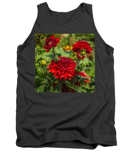 Cluster Of Dahlias Tank Top by Jane Luxton
