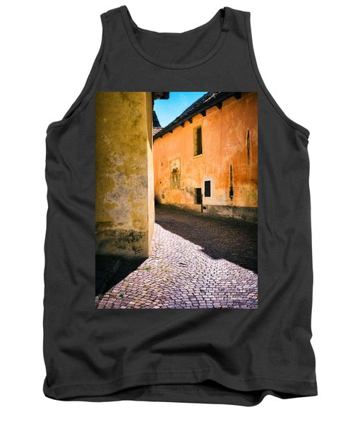 Tank Top featuring the photograph Cobbled Street by Silvia Ganora