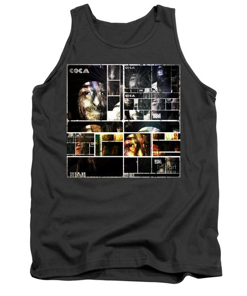 Tank Top featuring the photograph Coca In Part 5 Collage  by Sir Josef - Social Critic - ART
