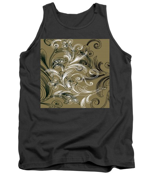 Coffee Flowers 4 Olive Tank Top by Angelina Vick
