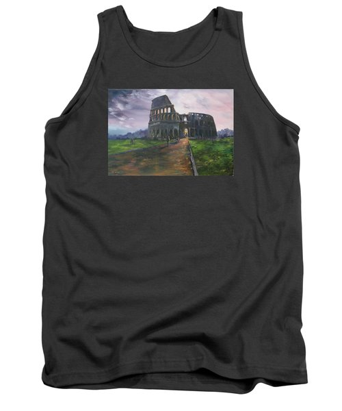 Tank Top featuring the painting Coliseum Rome by Jean Walker