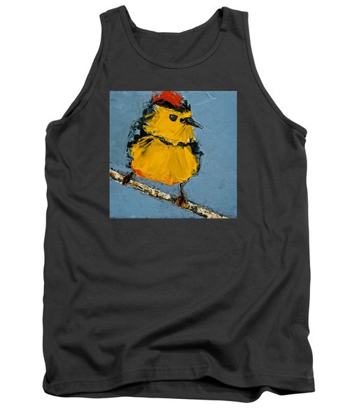 Tank Top featuring the painting Collard Redstart by Jani Freimann