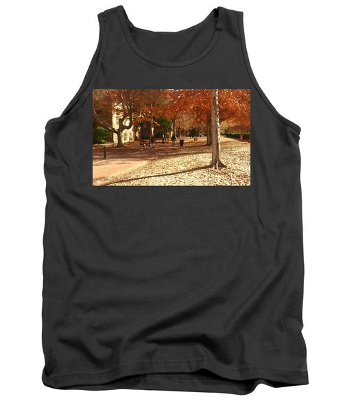 College Of William And  Mary Abstract Tank Top by Jacqueline M Lewis