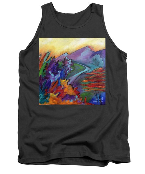 Tank Top featuring the painting Colordance by Elizabeth Fontaine-Barr