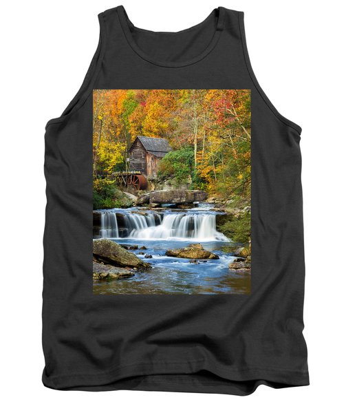 Colorful Autumn Grist Mill Tank Top