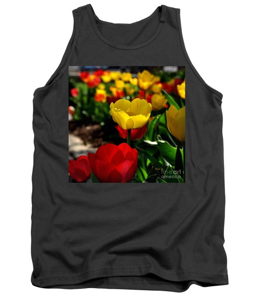 Colorful Spring Tulips Tank Top by Nava Thompson