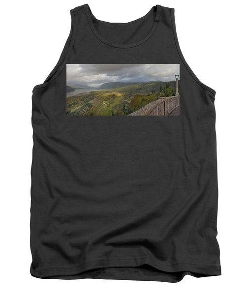 Tank Top featuring the photograph Columbia River Gorge View From Crown Point by JPLDesigns