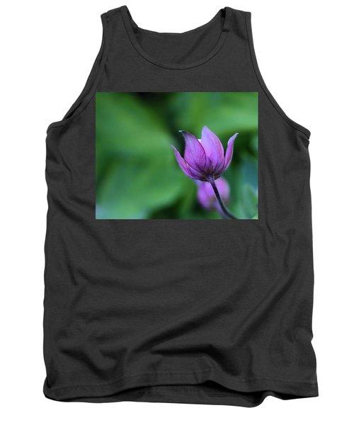 Columbine Flower Bud Tank Top by Kathy Eickenberg