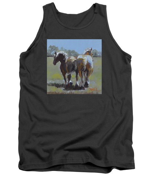 Tank Top featuring the painting Come Back Max And Major by Pattie Wall