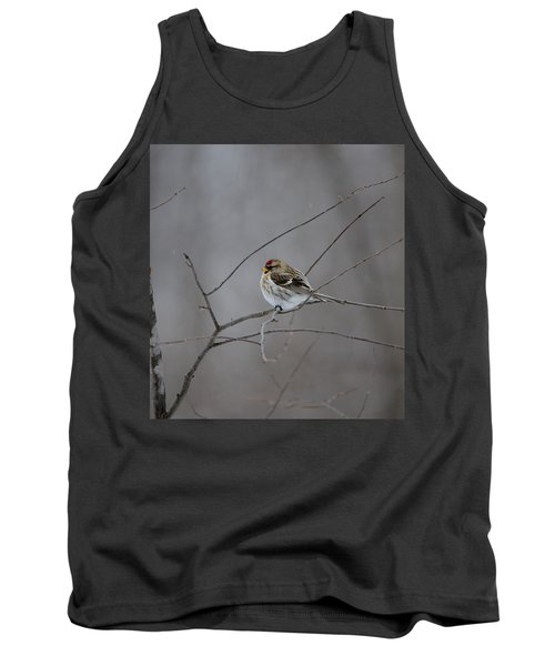 Tank Top featuring the photograph Common Redpoll by David Porteus