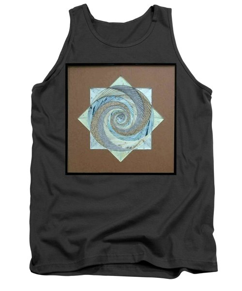 Tank Top featuring the mixed media Compass Headings by Ron Davidson